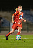 Jana Simons (8) of Femina White Star Woluwe pictured during a female soccer game between FC Femina White Star Woluwe and Eendracht Aalst on the sixth matchday in the 2021 - 2022 season of Belgian Scooore Womens Super League , friday 8 th of october 2021  in Woluwe , Belgium . PHOTO SPORTPIX | KRISTOF DE MOOR