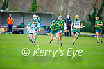 Both Kerry's Norette Casey and Meaths Louise O'Donoghue have theie eyes on the sliotar in the Camogie Intermediate Championship