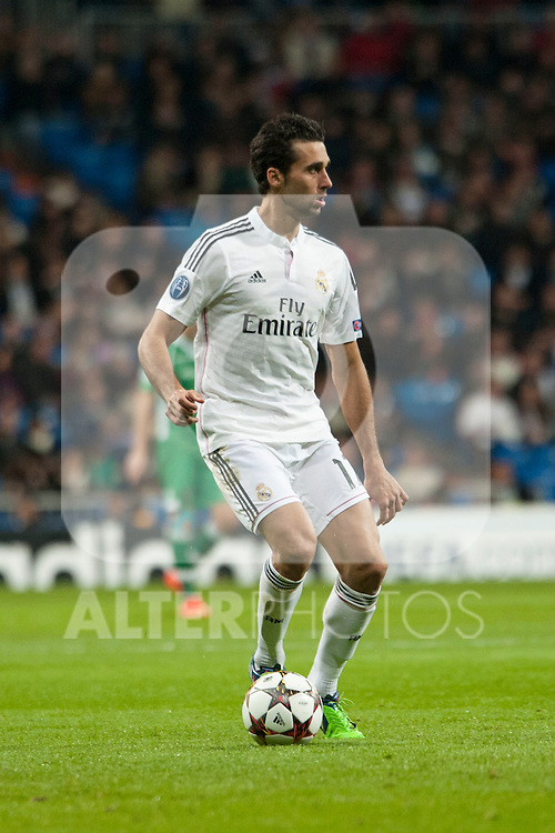 Arbeloa of Real Madrid during Champions League match between Real Madrid and Ludogorets at Santiago Bernabeu Stadium in Madrid, Spain. December 09, 2014. (ALTERPHOTOS/Luis Fernandez)