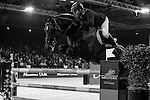 John Whitaker of United Kingdom rides Argento in action at the Longines Grand Prix during the Longines Hong Kong Masters 2015 at the AsiaWorld Expo on 15 February 2015 in Hong Kong, China. Photo by Juan Flor / Power Sport Images