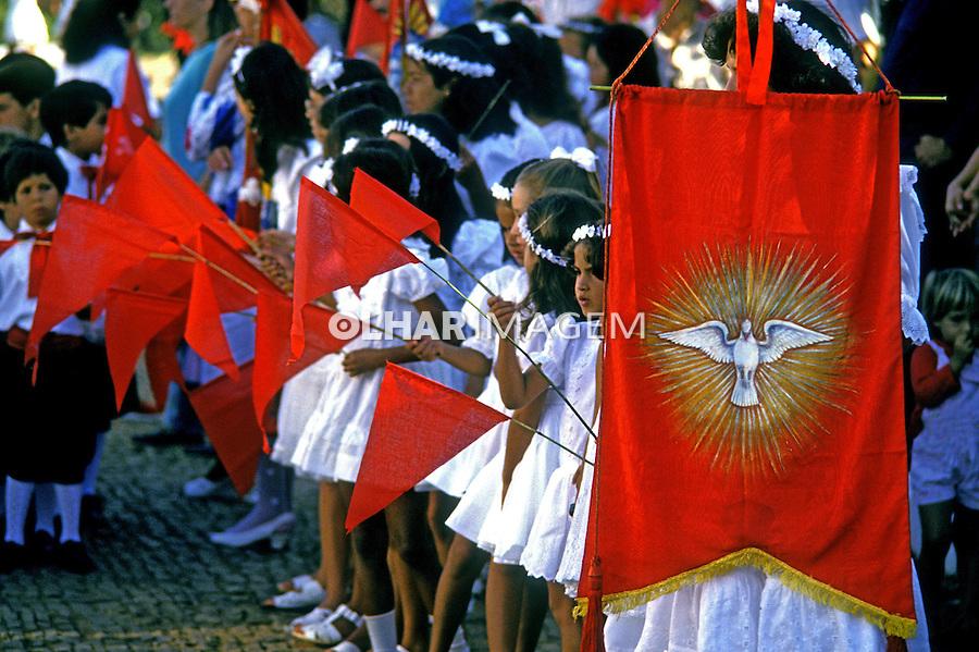 Procissão da Festa do Divino em Pirenópolis. Goiás. 1995. Foto de Juca Martins.