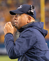 Penn State head coach James Frankiln. The Penn State Nittany Lions defeated the Pitt Panthers 51-6 on September 08, 2018 at Heinz Field in Pittsburgh, Pennsylvania.