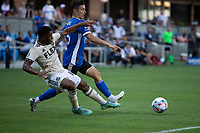 SAN JOSE, CA - AUGUST 8: Paul Marie #46 during a game between Los Angeles FC and San Jose Earthquakes at PayPal Stadium on August 8, 2021 in San Jose, California.