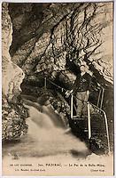 Europe/Europe/France/Midi-Pyrénées/46/Lot/Padirac: Gouffre de Padirac - La rivière souterraine au Pas de la Belle-Mère - Vieille carte Postale Collection Société du Gouffre de Padirac  -Reproduction - Autorisation nécessaire