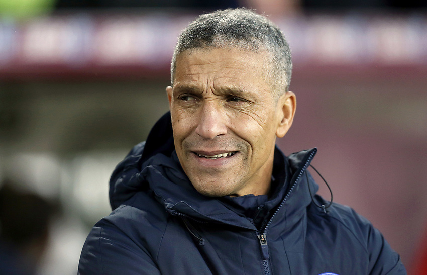 Brighton & Hove Albion manager Chris Hughton looks dejected<br /> <br /> Photographer Rich Linley/CameraSport<br /> <br /> The Premier League - Burnley v Brighton and Hove Albion - Saturday 8th December 2018 - Turf Moor - Burnley<br /> <br /> World Copyright © 2018 CameraSport. All rights reserved. 43 Linden Ave. Countesthorpe. Leicester. England. LE8 5PG - Tel: +44 (0) 116 277 4147 - admin@camerasport.com - www.camerasport.com