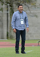 MEDELLÍN- COLOMBIA, 29-04-2018: Diego Corredor (Der.) director técnico de  Patriotas Boyacá durante partido contra Leones  por la fecha 18 de la Liga Águila I 2018 jugado en el estadio Metropolitano Ciudad de Itagui. / Diego Corredor ciach of Patriotas Boyaca during the match agaisnt Leones  for the date 18 of the Liga Aguila I 2018 played at the Metropolitano ciudad de Itagui. Photo: VizzorImage / León Monsalve / Contribuidor