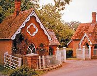 Houghton Lodge Gatehouse in Gothic style, c. 1800.