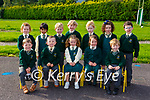 Loreto NS Killarney Junior Infant class on their first day of school on Monday Front Row left to right: Hughie O'Neill, Freddie Moore, Éabha Ryan, Jessica Pierce, William Lenihan.<br /> <br /> Back Row left to right: Sarah Mac Sweeny, Daksha Sinha Roy, Lachlan McDonald, James Lucey Enright, Beibhinn O'Donnell,  Amber Rose O'Donoghue, Jack Kearney.<br /> <br /> Missing from Photo Isabelle Ireland.