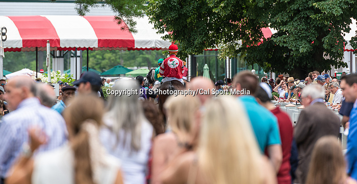 July 17, 2021: crowds are back at Saratoga Race Course in Saratoga Springs, New York on July 17, 2021. Rob Simmons/Eclipse Sportswire/CSM