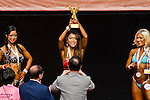 Winners in the Women's Model Physique category during the 2016 Hong Kong Bodybuilding Championships on 12 June 2016 at Queen Elizabeth Stadium, Hong Kong, China. Photo by Lucas Schifres / Power Sport Images