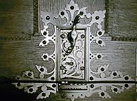 Gothic door hinge. Very decorative.