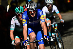 The peloton, with Kasper Asgreen (DEN) Deceuninck-Quick Step on the front, in action during Stage 5 of the 2019 Tour de France running 175.5km from Saint-Die-des-Vosges to Colmar, France. 10th July 2019.<br /> Picture: ASO/Alex Broadway | Cyclefile<br /> All photos usage must carry mandatory copyright credit (© Cyclefile | ASO/Alex Broadway)