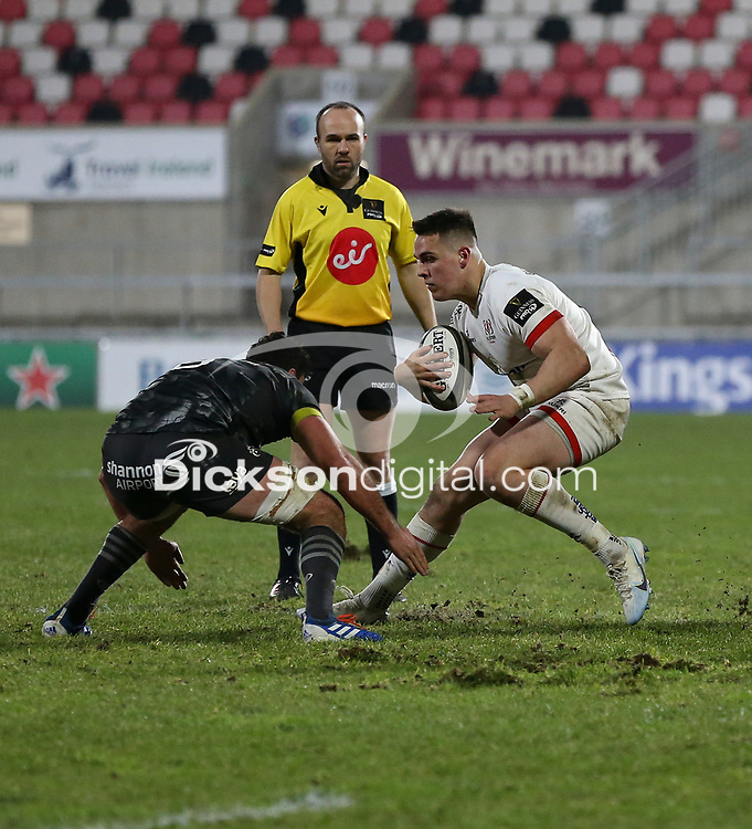 2nd January 2021 | Ulster vs Munster <br /> <br /> James Hume during the PRO14 Round 10 clash between Ulster Rugby and Munster Rugby at the Kingspan Stadium, Ravenhill Park, Belfast, Northern Ireland. Photo by John Dickson/Dicksondigital