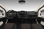 Stock photo of straight dashboard view of a 2017 Citroen Jumper Combi Confort 4 Door Combi