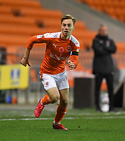 Blackpool's Dan Kemp<br /> <br /> Photographer Dave Howarth/CameraSport<br /> <br /> EFL Trophy - Northern Section - Group G - Blackpool v Leeds United U21 - Wednesday 11th November 2020 - Bloomfield Road - Blackpool<br />  <br /> World Copyright © 2020 CameraSport. All rights reserved. 43 Linden Ave. Countesthorpe. Leicester. England. LE8 5PG - Tel: +44 (0) 116 277 4147 - admin@camerasport.com - www.camerasport.com