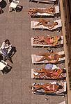 Finishing school Switzerland Surval Mont-Fleuri  Montreux Sunbathing on the terrace Lake Geneva  1990S