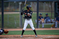AZL White Sox Misael Gonzalez (12) at bat during an Arizona League game against the AZL Padres 2 on June 29, 2019 at Camelback Ranch in Glendale, Arizona. The AZL Padres 2 defeated the AZL White Sox 7-3. (Zachary Lucy/Four Seam Images)