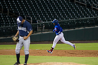 AZL Cubs left fielder Nelson Velazquez (20) rounds the bases after hitting a home run against the AZL Padres 2 on August 28, 2017 at Sloan Park in Mesa, Arizona. AZL Cubs defeated the AZL Padres 2 9-4. (Zachary Lucy/Four Seam Images)