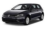 2017 Volkswagen Golf Trendline 3 Door Hatchback angular front stock photos of front three quarter view