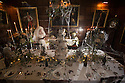 15/11/15<br /> <br /> Fifty years after being jilted by her lover and stopping the clocks in Statis House, Miss Haversham, still wearing her wedding dress, stands by her wedding breakfast table in a room themed around Charles Dickens' Great Expectations. <br /> <br /> It is one of seven rooms at Tissington Hall, Derbyshire portraying different scenes from Dickens novels as part of the Hall's 'What The Dickens?' event that will be showing a darker side to Christmas. Tissington Hall set in The Peak District near Ashbourne is said to be haunted. Tours starting next week will allow visitors to search for ghosts and experience the spookier side of Christmas.<br /> <br /> Tissington Hall is one of only a few stately homes still owned and lived in by its original family. In fact the table where Miss Haversham's  wedding breakfast is laid out is where the Fitzherbert family will eat their Christmas Dinner.<br /> <br /> Many of the rooms have never been seen by the public before. Indeed, Scrooge's bedchamber has been unused for a about one hundred years - it was full of junk, including old mattresses before being transformed into one of the Dickens rooms.<br /> <br /> Props used throughout are almost entirely objects found in the house. Bottles of wine, still covered in dust, that were discovered recently in the cellar, add to the eerie look in Miss Haversham's wedding breakfast room. Toys in the children playroom were once played with by young members of the Fitzherbert family, and deeds, and plans on show in Mr Tulkinghorn's law office are all original document and plans found in Tissington Hall's library.<br /> <br /> All Rights Reserved: F Stop Press Ltd. +44(0)1335 418365   www.fstoppress.com.