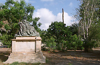 Statue of Queen Victoria in a neglected park on Prince of Wales Crescent in Aden, the port which was once the British colonial capital of Yemen.