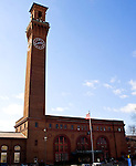 WATERBURY, CT - 23 FEBRUARY 2009 -022309JT02-<br /> The Union Station clock tower in downtown Waterbury on Feb. 23, 2009.<br /> Josalee Thrift Republican-American