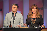 MIAMI, FL - FEBRUARY 05: Juan Soler and Maria Celeste at the Telemundo and Premios Billboard 2013 Press Conference at Gibson Miami Showroom on February 5, 2013 in Miami, Florida. © MPI10/MediaPunch Inc /NortePhoto