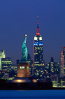 "#JP0462 ""Statue of Liberty & Empire State Building - New York NY"