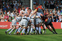 David Ewers of Exeter Chiefs controls the maul during the Aviva Premiership match between Harlequins and Exeter Chiefs at The Twickenham Stoop on Saturday 7th May 2016 (Photo: Rob Munro/Stewart Communications)