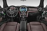 Stock photo of straight dashboard view of a 2015 MINI Mini Cooper 5 Door Hatchback 2WD Dashboard