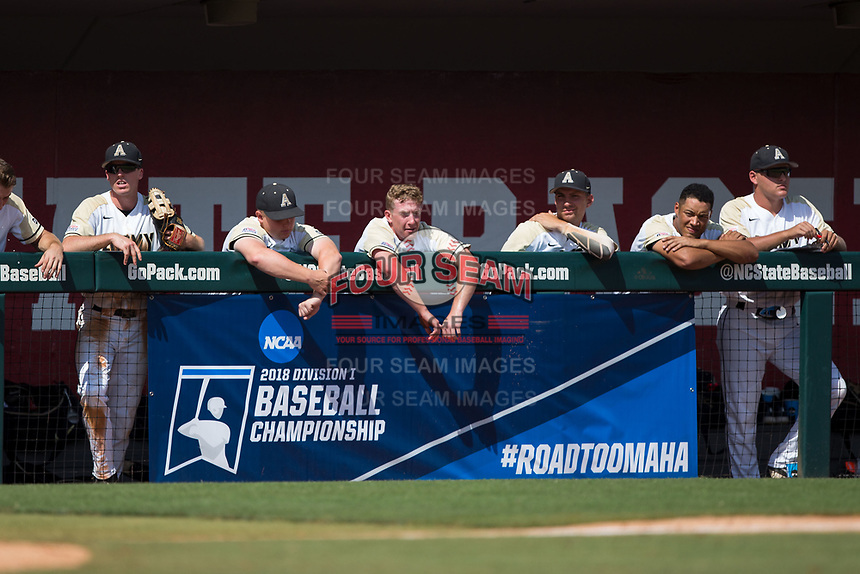 The Army Black Knights faced off against the North Carolina State Wolfpack in an elimination game in the Raleigh Regional of the 2018 College World Series at Doak Field at Dail Park on June 3, 2018 in Raleigh, North Carolina. The Wolfpack defeated the Black Knights 11-1. (Brian Westerholt/Four Seam Images)
