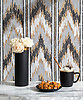 Tulu, a hand-cut stone mosaic, shown in tumbled Calacatta, Allure, Saint Laurent, and Topaz Onyx.