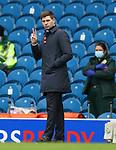 25.10.2020 Rangers v Livingston: Steven Gerrard signals to Jermain Defoe after goal no 2