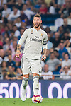 Sergio Ramos of Real Madrid in action during the La Liga 2018-19 match between Real Madrid and CD Leganes at Estadio Santiago Bernabeu on September 01 2018 in Madrid, Spain. Photo by Diego Souto / Power Sport Images