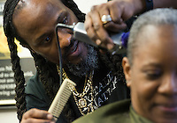 Husband and wife Clifford Eaton and RoseMary Spann Eaton own and operate Totally Natural Hair Salon in East Anchorage. The shop is one of a very few in Alaska which specializes in natural black hair styles.