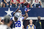 Dallas Cowboys defensive back Dax Swanson (28) in action during the pre-season game between the Houston Texans and the Dallas Cowboys at the AT & T stadium in Arlington, Texas.