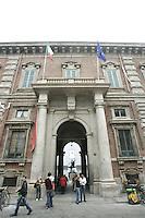 Veduta esterna dell'Accademia di Brera a Milano.<br /> Exterior of the Brera Academy in Milan.<br /> UPDATE IMAGES PRESS/Riccardo De Luca
