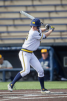 Michigan Wolverines designated hitter Jimmy Kerr (15) at bat the Toledo Rockets on April 20, 2016 at Ray Fisher Stadium in Ann Arbor, Michigan. Michigan defeated Bowling Green 2-1. (Andrew Woolley/Four Seam Images)
