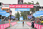 Jonathan Caicedo (ECU) EF Pro Cycling wins solo on the slopes of Mount Etna during Stage 3 of the 103rd edition of the Giro d'Italia 2020 running 150km from Enna to Etna (Linguaglossa-Piano Provenzana), Sicily, Italy. 5th October 2020.  <br /> Picture: LaPresse/Massimo Paolone | Cyclefile<br /> <br /> All photos usage must carry mandatory copyright credit (© Cyclefile | LaPresse/Massimo Paolone)