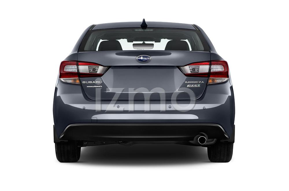Straight rear view of 2018 Subaru Impreza 2.0i-Limited-CVT-PZEV 4 Door Sedan Rear View  stock images