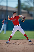 Chase Weissenborn during the Under Armour All-America Pre-Season Tournament, powered by Baseball Factory, on January 19, 2019 at Fitch Park in Mesa, Arizona.  Chase Weissenborn is a shortstop from Albuquerque, New Mexico who attends Albuquerque Academy.  (Mike Janes/Four Seam Images)