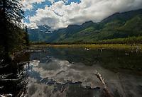 Pools near the head of the Eagle River, Alaska.