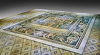 Roman mosaics - Women At Breakfast Mosaic. Zosimos Villa, Ancient Zeugama, 2nd - 3rd century AD . Zeugma Mosaic Museum, Gaziantep, Turkey.