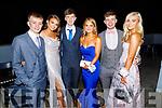 Jordan Foley, Ellen Linnane, Sean Duggan, Niamh Ferris, Aidan Mangan, Riadh O'Sullivan attending the Mercy Mounthawk Debs in the Ballyroe Heights Hotel on Friday.