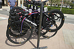 Garmin-Cervelo bikes lined up before the start of the 3rd Stage of the 2012 Tour of Qatar outside Dukhan Souq, Dukhan, Qatar, 7th February 2012 (Photo Eoin Clarke/Newsfile)