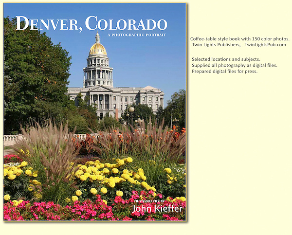 """I've photographed and led tours in Denver for years and was thrilled to be selected to photograph: """"Denver, Colorado: A Photographic Portrait."""" (a hardcover book with 160 captioned, color photos)."""