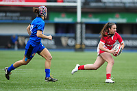 Kayleigh Powell of Wales in action during the Women's six nations championship match between the Wales and Italy at Cardiff Arms Park in Cardiff, Wales, UK. Sunday 02 February 2020