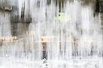 Water at fountain at Mt Tomah Botanical Gardens, Blue Mountains, Sydney, NSW, Australia
