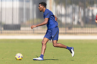 BRADENTON, FL - JANUARY 23: Donovan Pines moves with the ball during a training session at IMG Academy on January 23, 2021 in Bradenton, Florida.