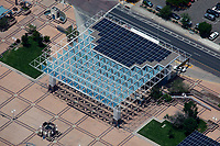 aerial photograph of Al Hurricane Pavilion stage at the Civic Plaza, Albuquerque, New Mexico